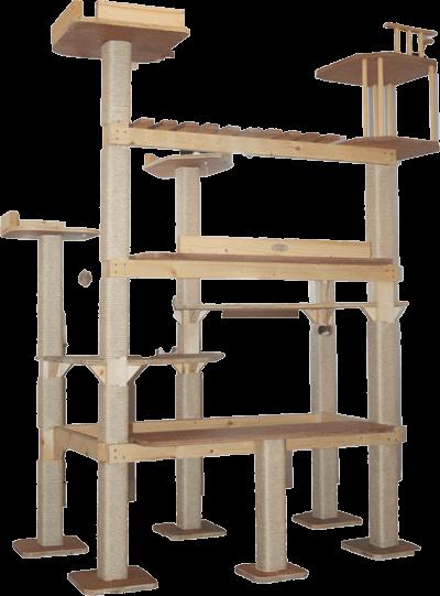La Megatorre castillo es una superestructura con pasarelas, torres, rampas y jaulas