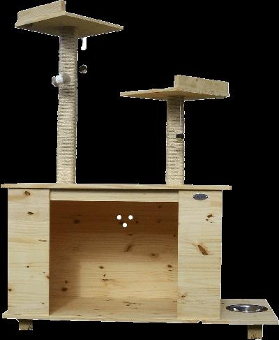 combi Nano XL, doble capacidad para gatos y perros. Incluye dos rascadores
