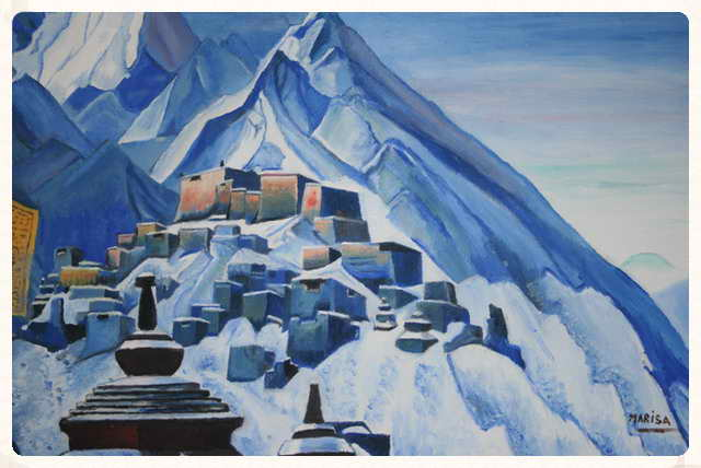 Tibet, cuadro de Nikolas Roerich