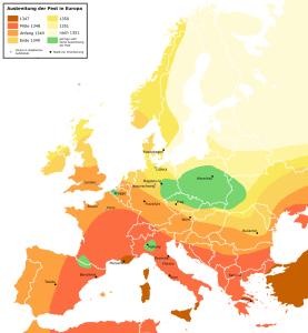 extension peste negra Europa