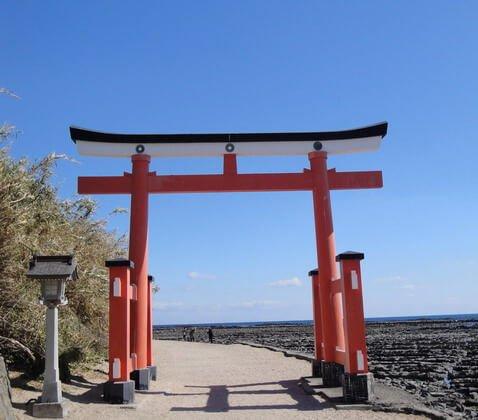 Puerta de entrada a la isla japonesa de Aoshima