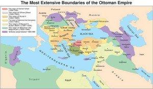 Mapa territorios conquista otomanos