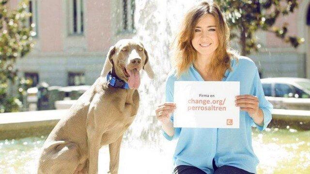 Firma para lograrlo: Famosa presentadora de TV inicia una campaña contra RENFE para admitir perros en los trenes