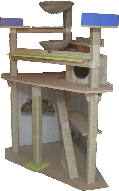 La Megatorre Tormenta es una gran estructura multinível con rampa de acceso rápida a varias camas