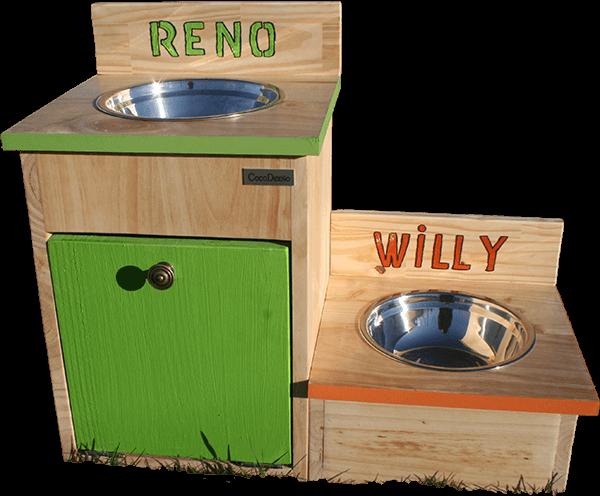 Comedero WILLY y RENO de CocoDiseño